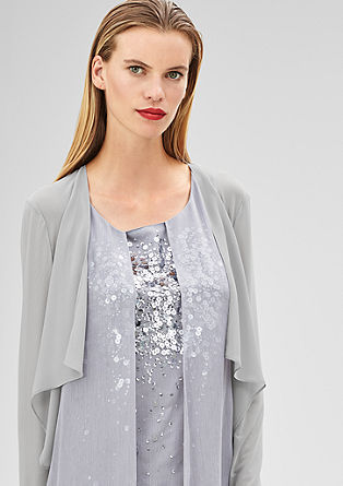 Mesh bolero with a crêpe front from s.Oliver