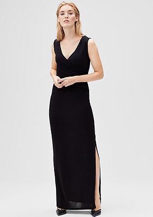 Maxi-jurk met metallic krijtstrepen