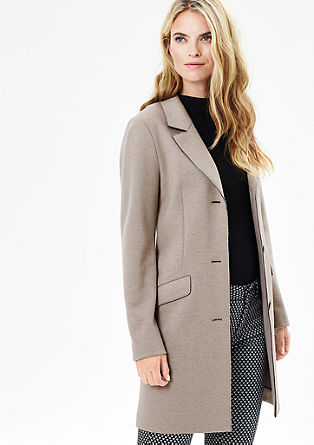 Melange wool coat with buttons from s.Oliver