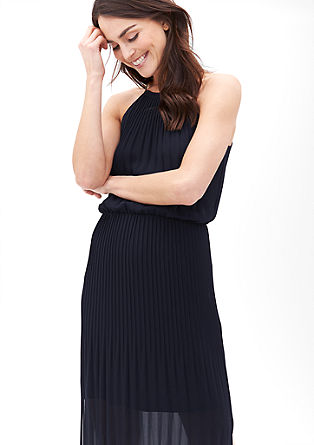 Strapless pleated dress from s.Oliver