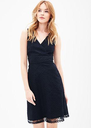 Mesh-Kleid mit Cache Coeur-Ausschnitt