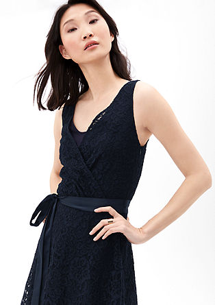 Lace dress with a satin bow from s.Oliver