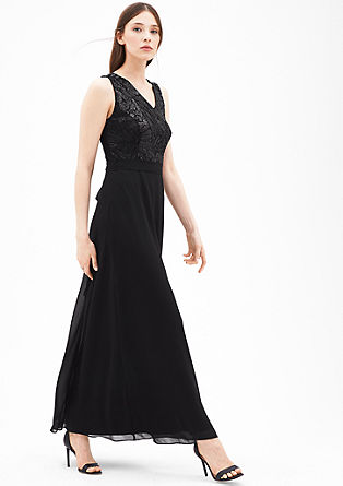 Chiffon dress with sequins from s.Oliver