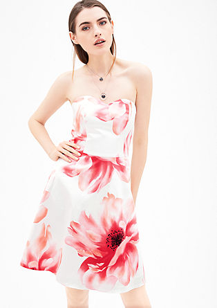 Strapless satin dress from s.Oliver
