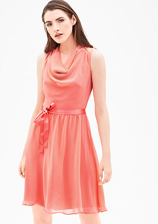 Chiffon dress with a satin bow from s.Oliver