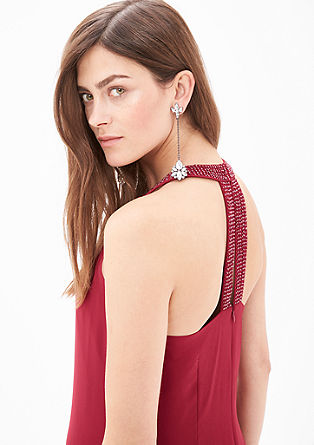 Chiffon dress with decorative beads from s.Oliver