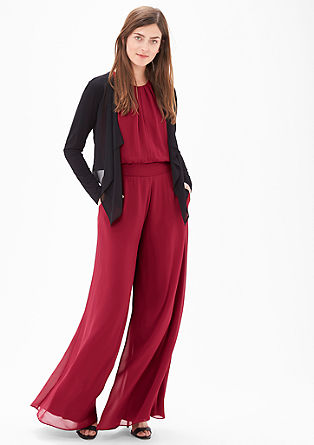 Delicate jumpsuit with a wide leg from s.Oliver