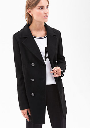 Long pea coat with emblem buttons from s.Oliver