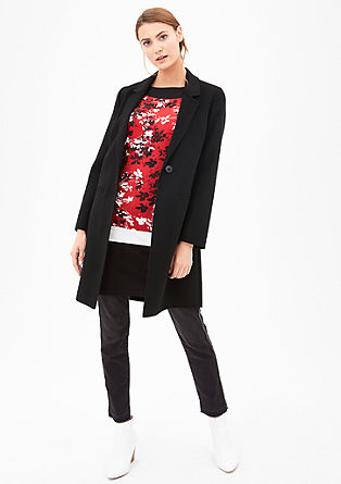 Lightweight wool coat in a double-face fabric from s.Oliver
