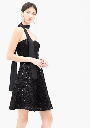 Off-the-shoulder sequin dress from s.Oliver