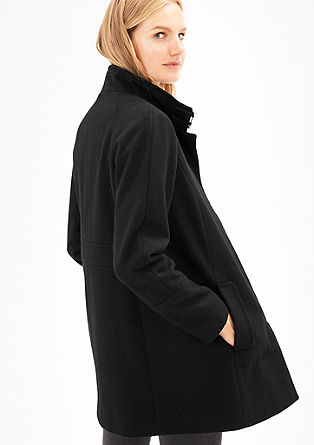 Short wool coat in a clean look from s.Oliver