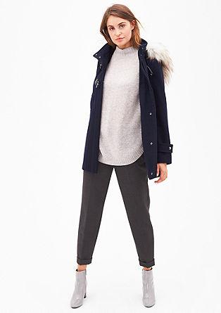 Dufflecoat mit Fake Fur