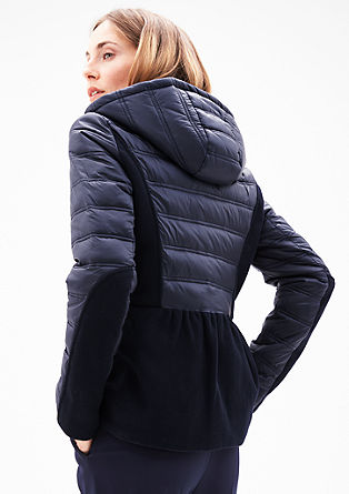 Quilted jacket with wool inserts from s.Oliver