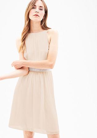 Chiffon-Kleid mit Schmucksteinen