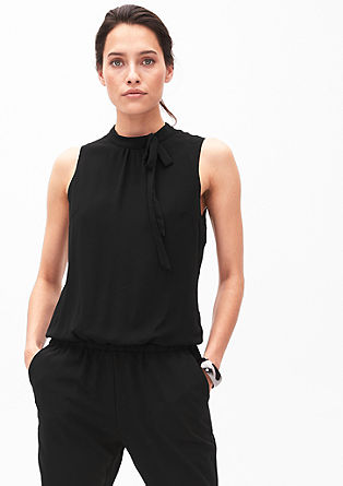 Eleganter Jumpsuit im Fabric-Mix