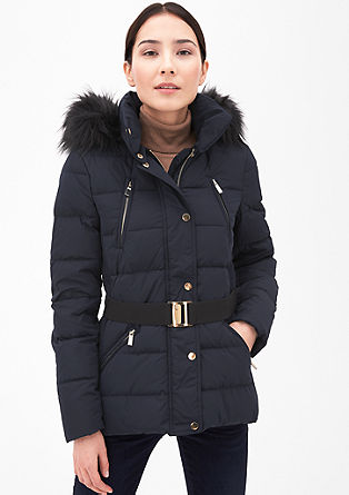 Elegant down jacket with a belt from s.Oliver