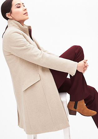 Smart wool coat with padding from s.Oliver