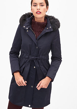 Elegant parka with faux fur from s.Oliver