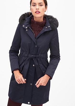 Eleganter Parka mit Fake Fur