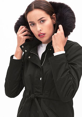 Eleganter Parka mit Fake Fur