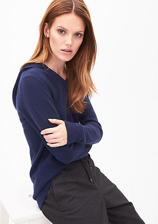 Hooded jumper in cashmere from s.Oliver