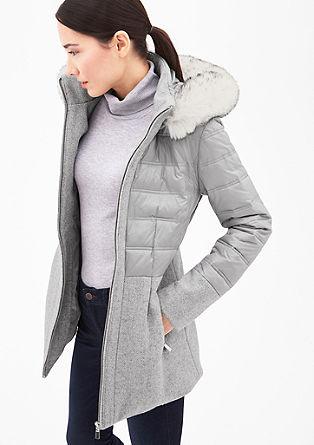 Elegantní kabát ze směsového materiálu