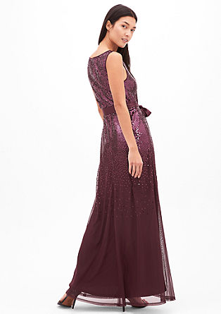 Delicate evening dress with sequins from s.Oliver