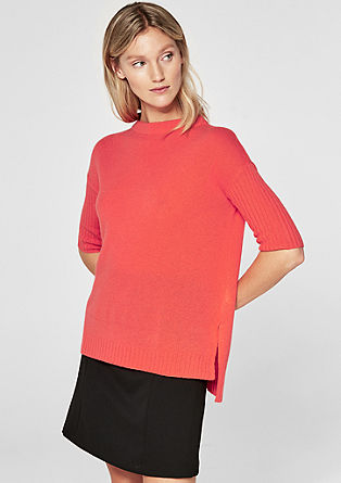 Cashmere jumper with short sleeves from s.Oliver