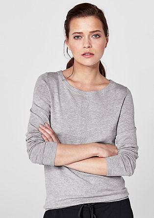 Melírovaný žerzejový pulovr