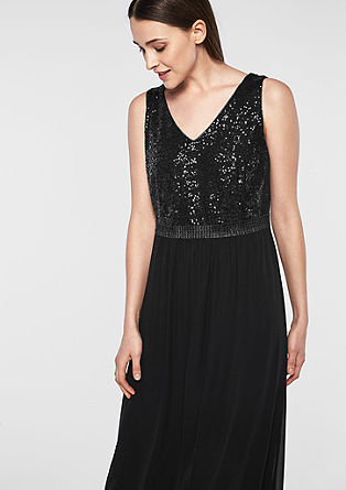 Glamorous evening dress with sequins from s.Oliver