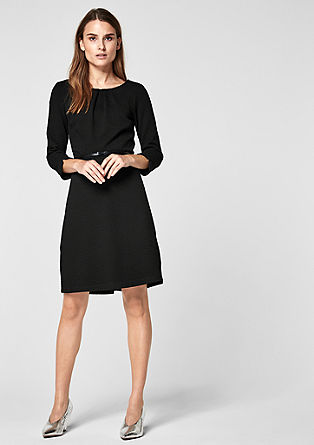 Textured stretch dress from s.Oliver