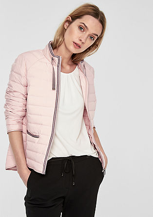 Elegant quilted jacket with glitter from s.Oliver