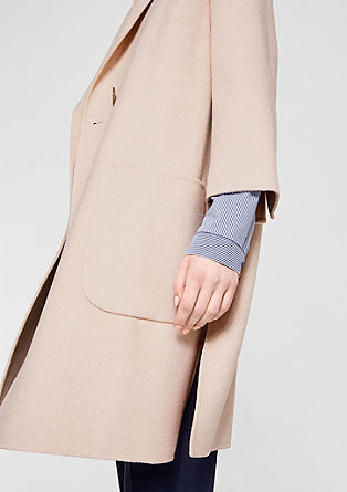 Oversized coat in blended wool from s.Oliver