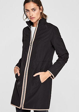 Short coat with contrasting piping from s.Oliver