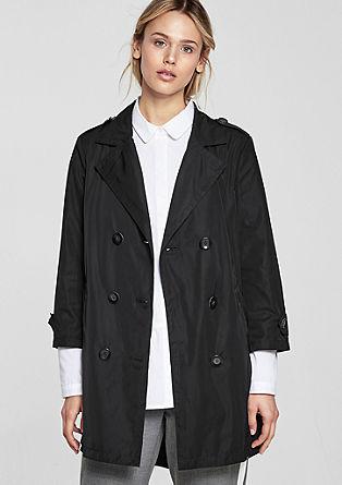 Korte mantel met de look van een trenchcoat