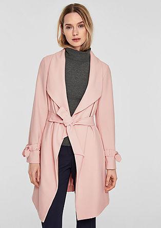 Eleganter Mantel mit Schleifen-Details