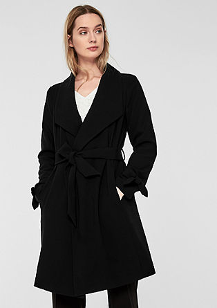 Elegant coat with bow details from s.Oliver