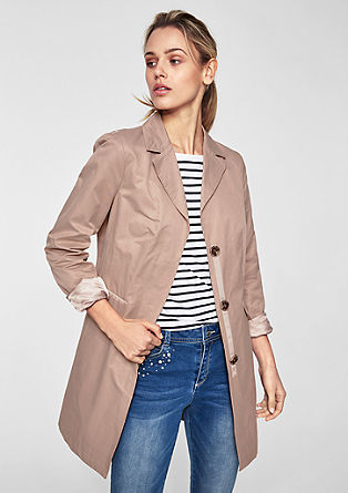 Fitted coat in a clean look from s.Oliver
