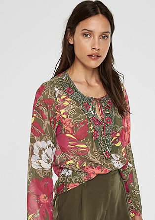 Embroidered chiffon tunic from s.Oliver