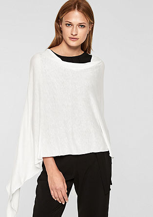 Poncho in fine jersey from s.Oliver