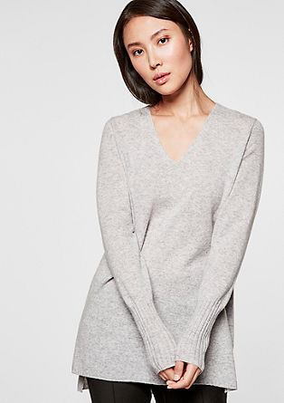 V-neck cashmere jumper from s.Oliver