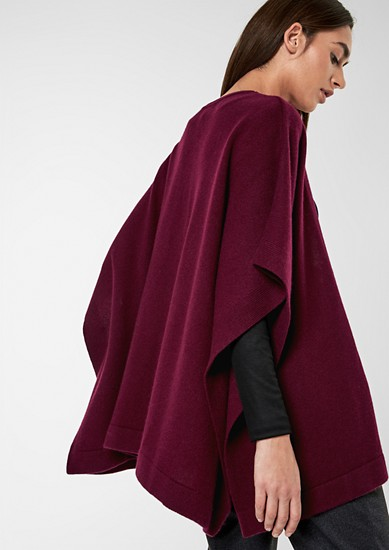 Elegant cashmere poncho from s.Oliver