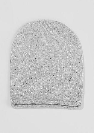 Pletena kapa s kašmirjem