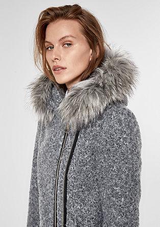Jacke in Lammfell-Optik mit Fake Fur