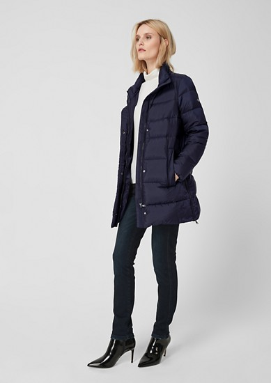 Down jacket with a shawl collar from s.Oliver