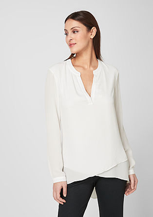 Layer-Bluse mit High Low-Saum