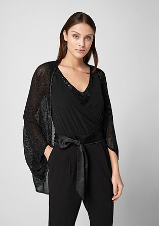 Poncho with a glitter effect from s.Oliver