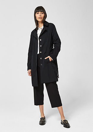 Trenchcoat met een nylon look