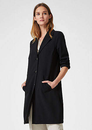 Short coat with lapel from s.Oliver