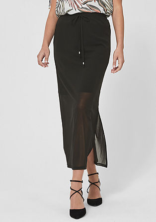 Mesh skirt with sheer finish from s.Oliver